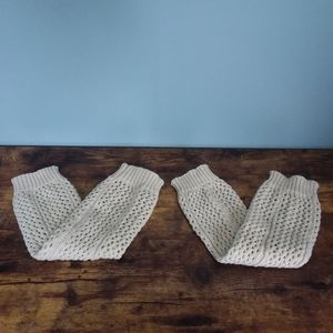 Oatmeal Knit Leg Warmers for Boots
